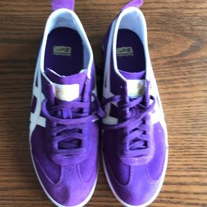 Onitsuka Tiger purple suede runners NWOT